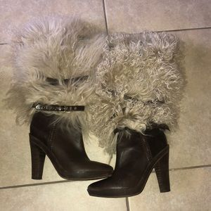Sheep fur boots